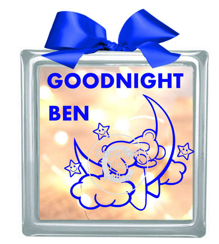 GOODNIGHT BEAR FOR PERSONALISING  please READ ALL INFO