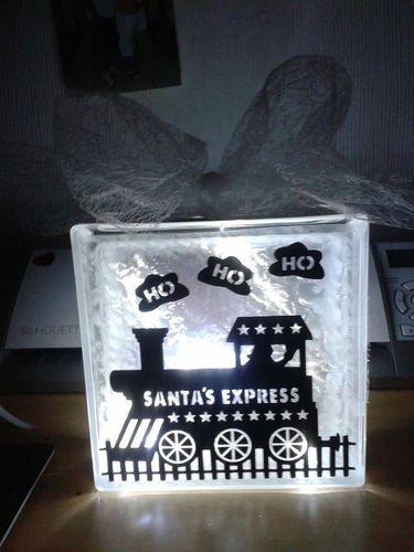 Santas Express Frame Glass Block Tile Design