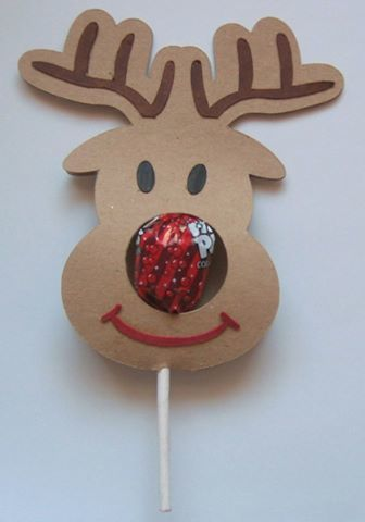 Christmas Rudolph Reindeer Chupa Chups Lolly holder PDF handcut