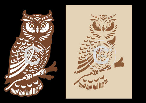 Owl LARGE (TWO FILES) SVG format