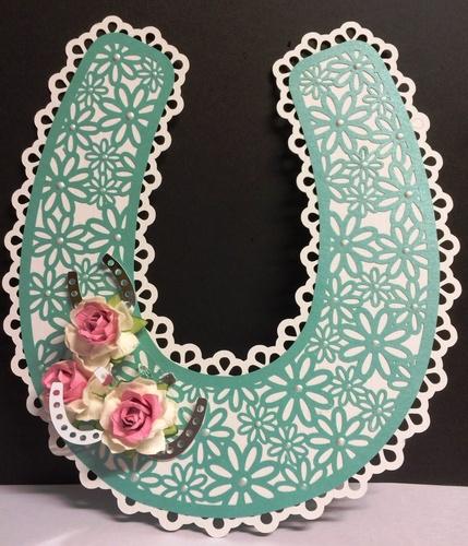 Bridal / Bride Wedding horseshoe  - Daisy Lattice  FCM Scan N Cut