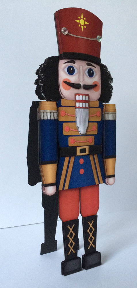 Christmas Nutcracker -Soldier   Print N Cut Shaped 3d Card studio file