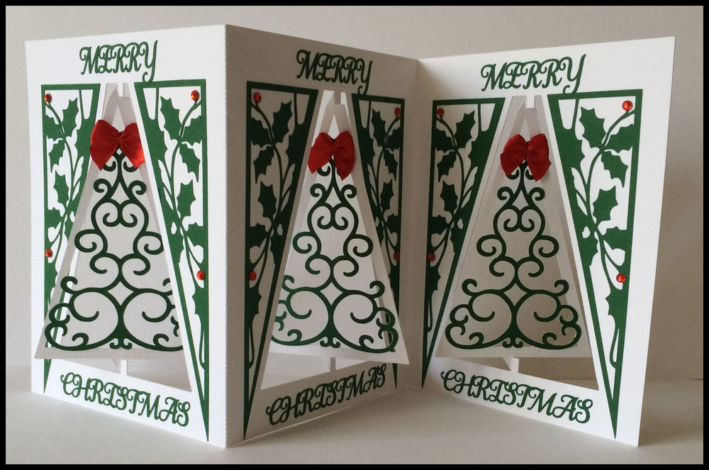 Accordian Card - Christmas Tree -  Studio file A4 12x12 and A3 see product description