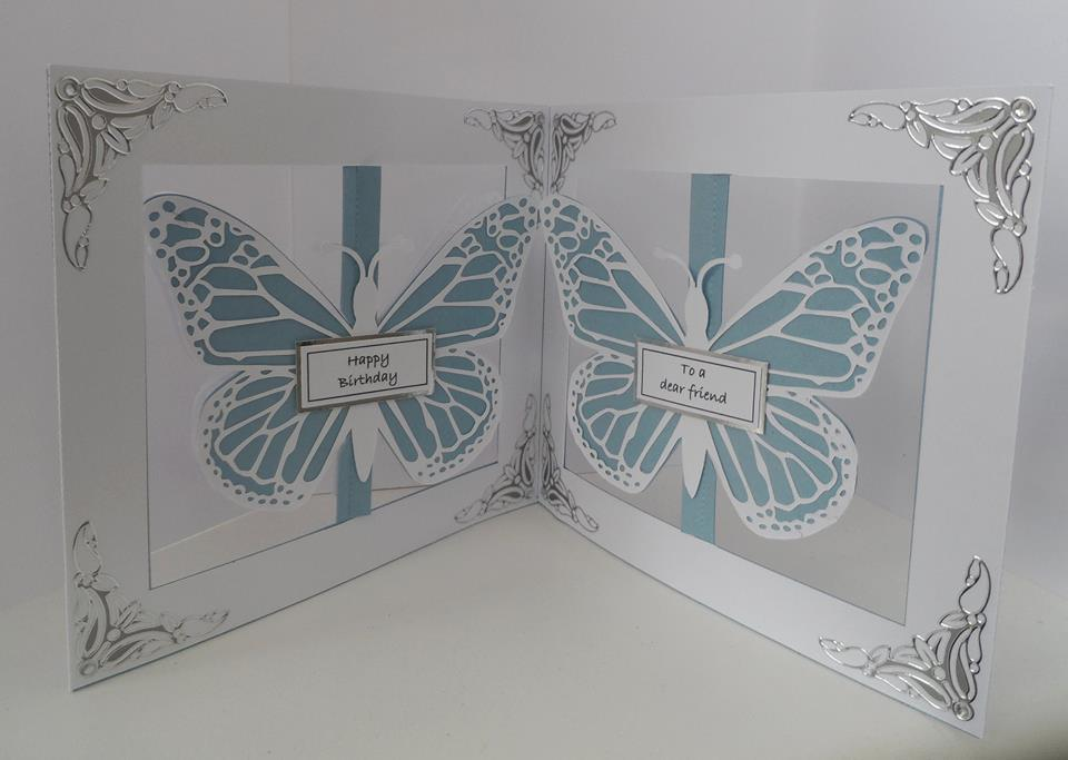 Accordian Card - Butterfly Butterflies -  SVG format