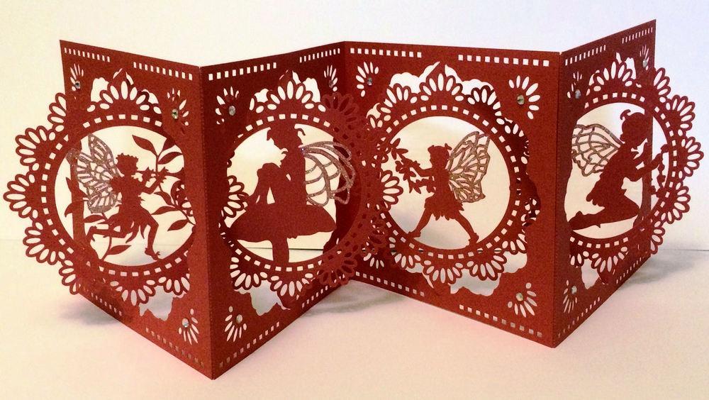 Accordian Card - Fairy Fairies themed - svg format
