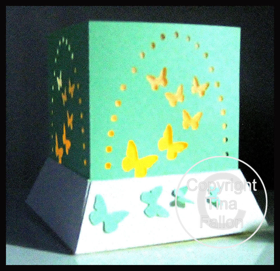 3d MINI  Luminaire - Lantern - Lamp - Butterfly Arc with optional peaked lid