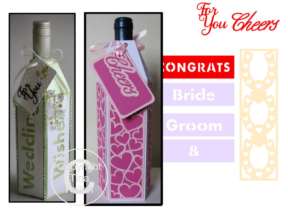 Wine Bottle Box Wraps - *BUMPER PACK *  Set 3 -   Wedding /Romance Themed -  Studio format