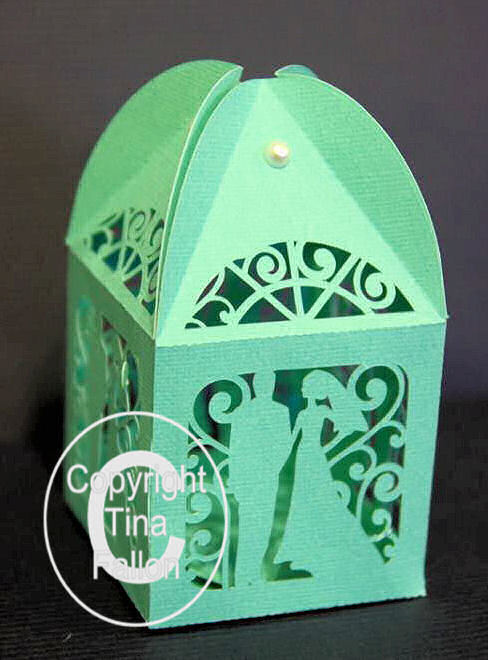 Wedding Favour Favor Box / Tealight holder - Bride and Groom - fcm format