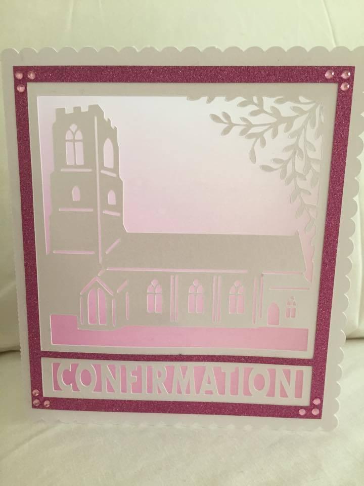 Church Card template - Confirmation - studio file