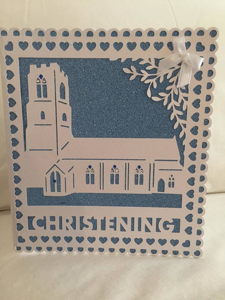 Church Card template - Christening - studio file