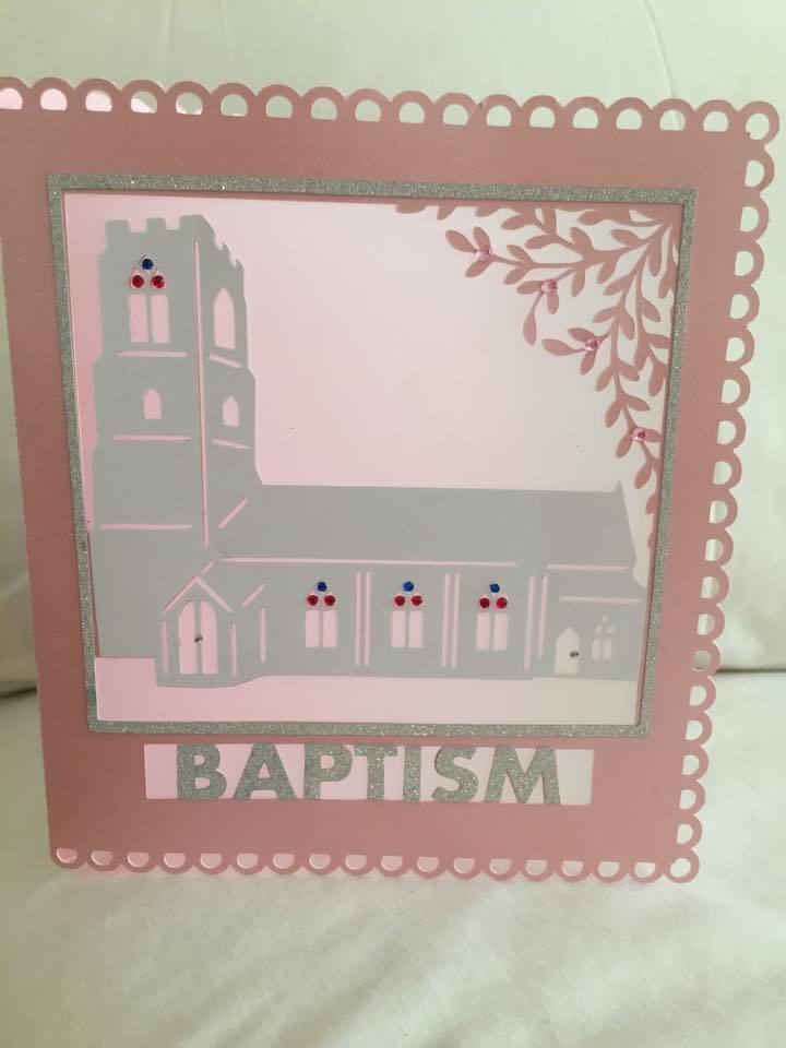 Church Card template - Baptism - studio file