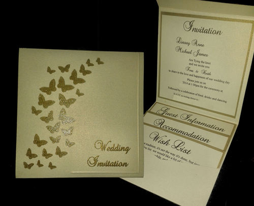 Wedding Invitation Butterfly Dance Pocket Wallet SVG
