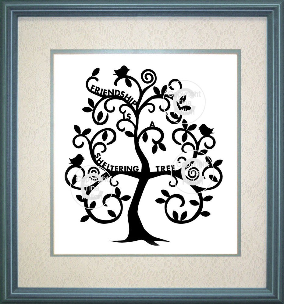Tree - Friendship is a sheltering tree  (with commercial use see notes) SVG