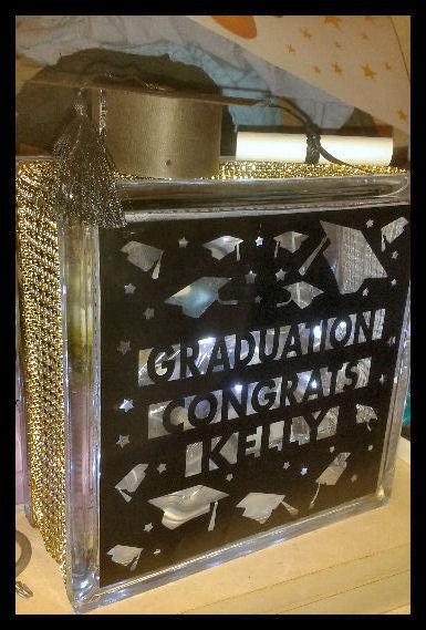 Mortar, Student, Graduation  Glass Block luminaire front