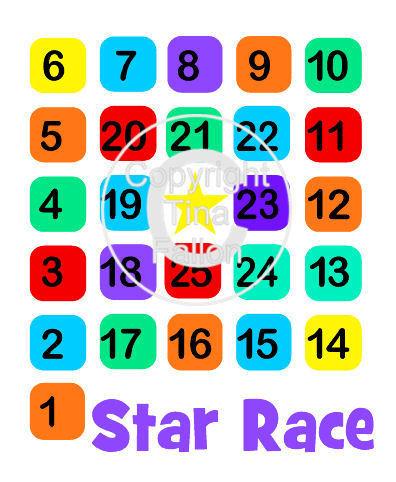 Star Race  - childs bag game HTV Vinyl file
