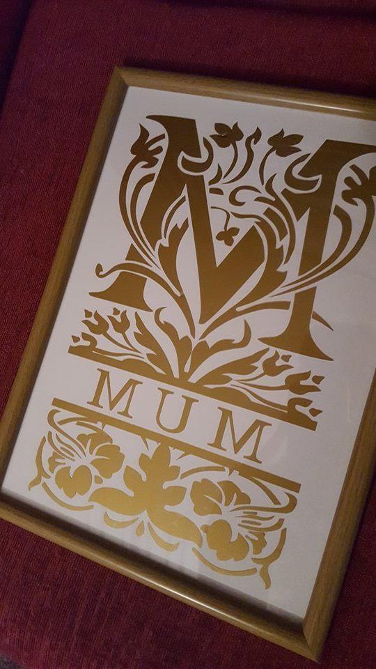 Mum Decorative Split Lettering.