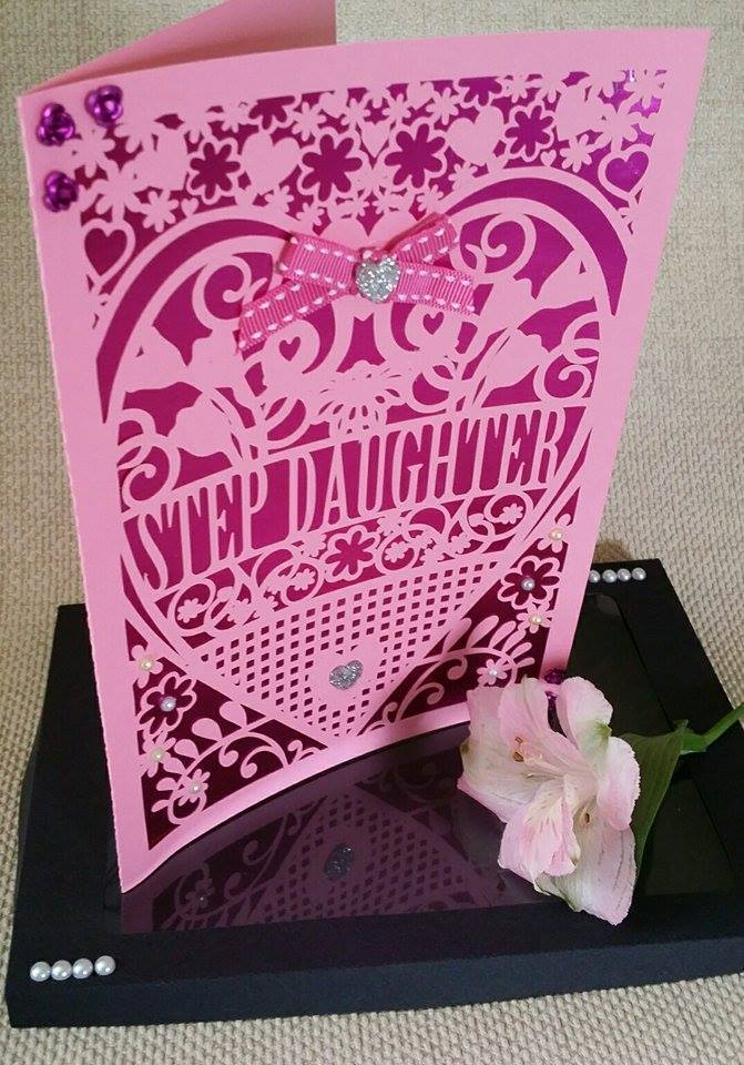 Step Daughter Birthday Card With Box Beautiful Cutout Design