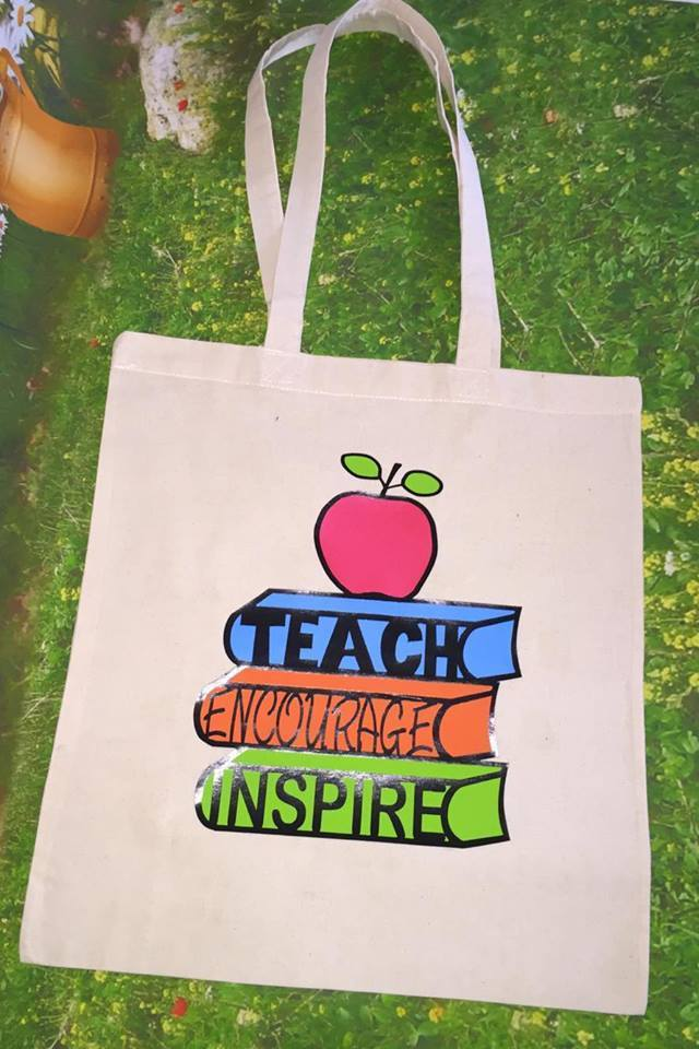 TEACHER - Teach Encourage Inspire for HTV vinyl