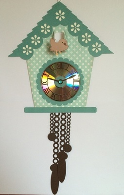 Cuckoo clock and Clock Face for CD's / 45's / LP's and 78's