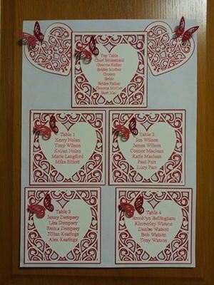 Heart Swirls Table Plan Decor