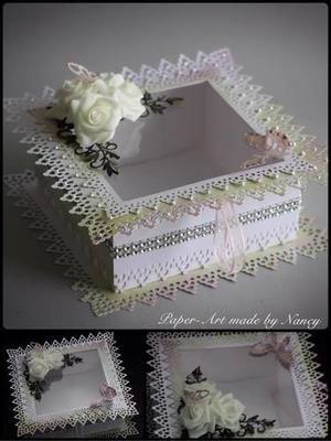 Touch of Romance Square Box with aperture LARGE AND DEEP SVG