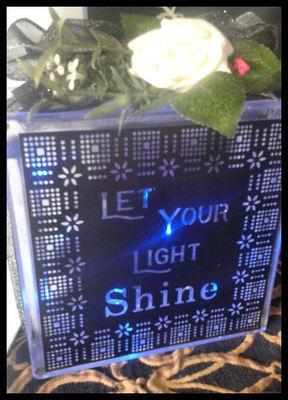Let Your Light Shine for  vinyl, glass block etc