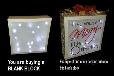 Make Your Own - Block Display  - Blank Template cut from 12x12 card or smaller