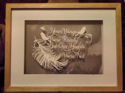 Your Wings Were Ready style 2 - Memory,Baby,Bereavement,  Papercut SVG