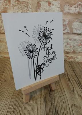 Dandelion Find Your Breath  Word Art SVG