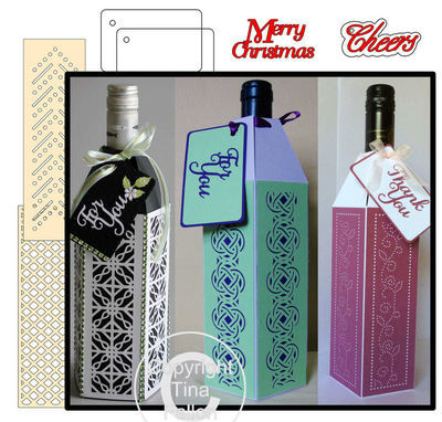Wine Bottle Box Wraps - *SVG BUMPER PACK *  Set1 -   General occasions
