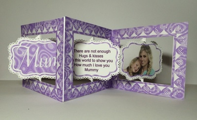 Accordian Card - Mum - Mother - Mamma choices included - studio format