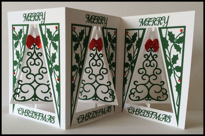 Accordian Card - Christmas Tree -  Scan n Cut format