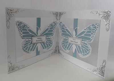 Accordian Card - Butterfly Butterflies -  Scan n Cut FCM format