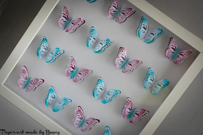Layered Butterfly Pop Out Collage   design (a)  4 x 4  (16 butterflies ) - studio file