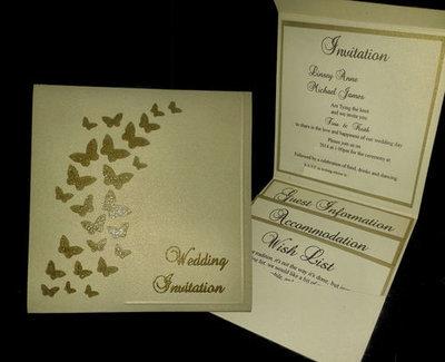 Wedding Invitation Butterfly Dance Pocket Wallet SVG
