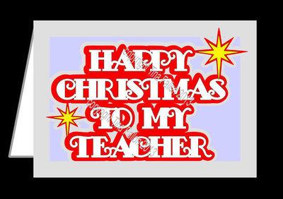 Happy Christmas TEACHER Layered Card Template