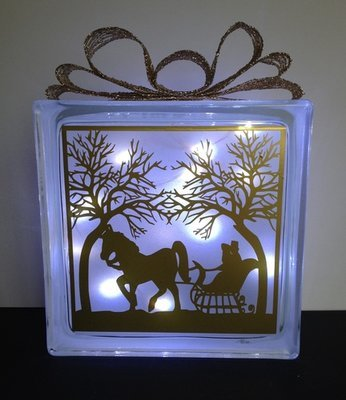 Horse Ride  Glass Block Tile Design 6x6 inches svg