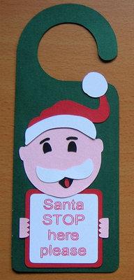 Santa Father Christmas Door Hanger  FCM - SCAN N CUT
