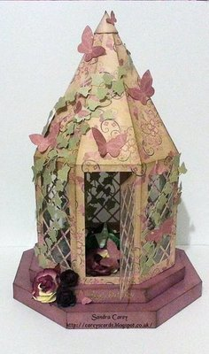 Lantern on plinths Design No 2 stained glass ideal Christmas Weddings Keepsake etc