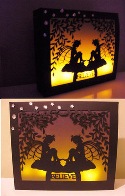 Fairy Time 23 SVG FORMAT  Large Gift Box or  LED Tealight Luminaire