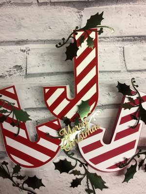 Candy Cane Christmas Gift / Chocolate Box   Studio format