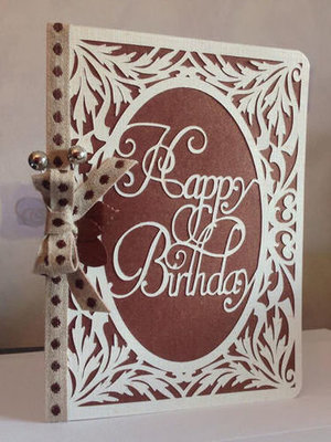 Happy Birthday 2  Card Template SVG FILE FORMAT