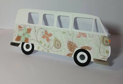 Camper Van Card template