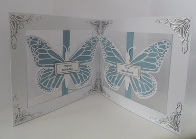 Accordian Card - Butterfly Butterflies -  SVG format