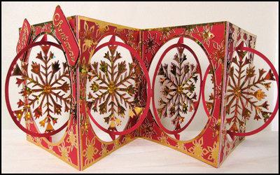 Accordian Card - Christmas Snowflake -  SVG format