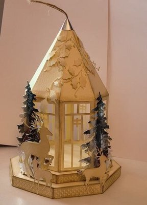Christmas Lantern on plinths  Design No 1