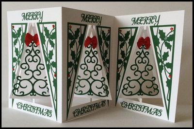 Accordian Card - Christmas Tree -  SVG format