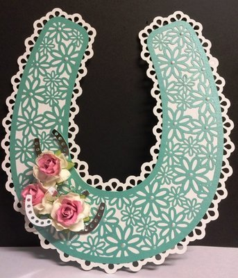 Bridal / Bride Wedding horseshoe  - Daisy Lattice and horseshoes