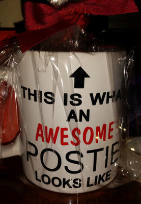 Mugs- 4 files for Postman/Milkman/Window cleaner/shopkeeper -  vinyl wording ideal for tips, gift