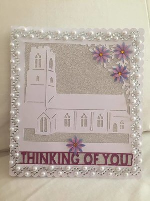 Church Card template - studio file    Thinking Of you